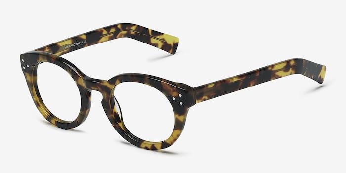 Morla Tortoise Acetate Eyeglass Frames from EyeBuyDirect, Angle View