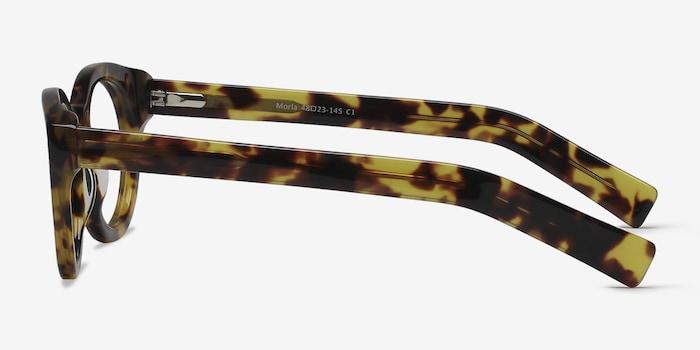 Morla Tortoise Acetate Eyeglass Frames from EyeBuyDirect, Side View