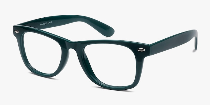 Atlee Green Plastic Eyeglass Frames from EyeBuyDirect, Angle View