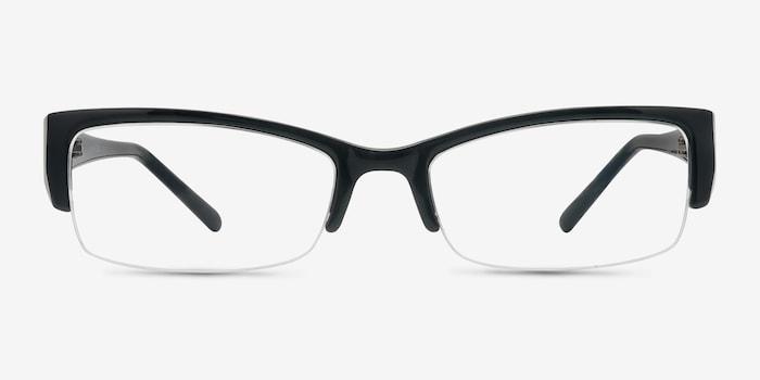 Diane  Black  Plastic Eyeglass Frames from EyeBuyDirect, Front View
