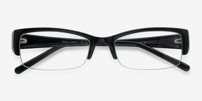 Diane  Black  Plastic Eyeglass Frames from EyeBuyDirect, Closed View