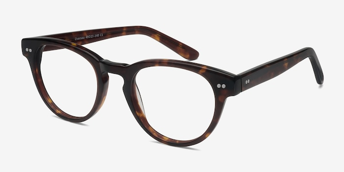 Oversea  Tortoise  Acetate Eyeglass Frames from EyeBuyDirect, Angle View