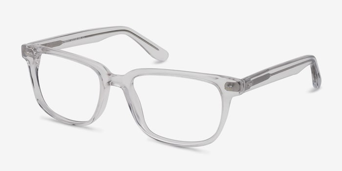 Pacific Clear Acetate Eyeglass Frames from EyeBuyDirect, Angle View