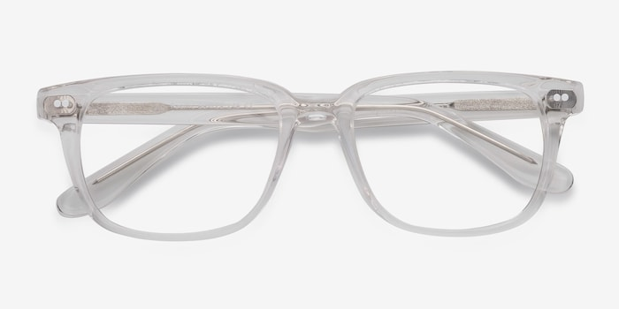 Pacific Clear Acetate Eyeglass Frames from EyeBuyDirect, Closed View