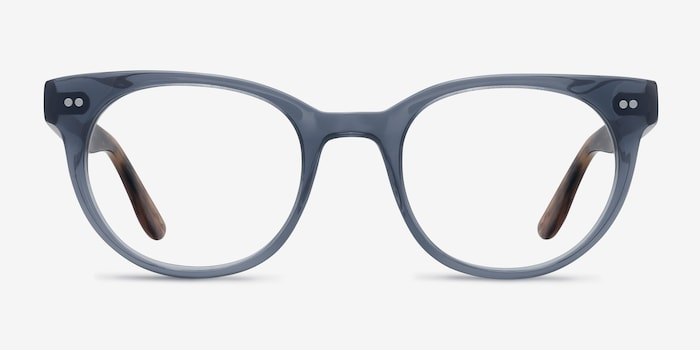 Daybreak Gray Acetate Eyeglass Frames from EyeBuyDirect, Front View