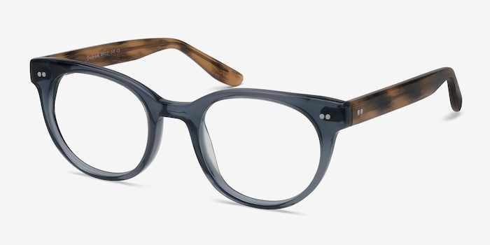 Daybreak Gray Acetate Eyeglass Frames from EyeBuyDirect, Angle View
