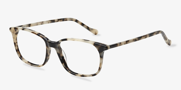 The Bay Tortoise Acetate Eyeglass Frames from EyeBuyDirect, Angle View