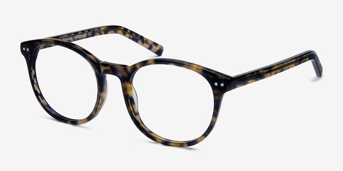 Primrose Floral Acetate Eyeglass Frames from EyeBuyDirect, Angle View