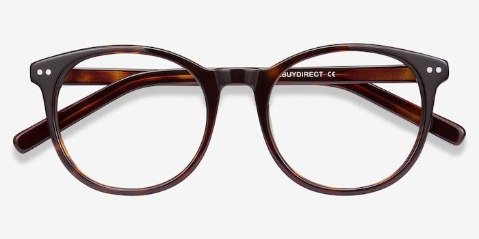 Primrose Tortoise Acetate Eyeglass Frames from EyeBuyDirect, Closed View