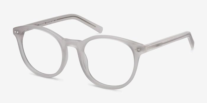 Primrose White Acetate Eyeglass Frames from EyeBuyDirect, Angle View