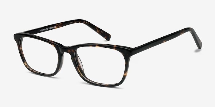 Wildfire Tortoise Acetate Eyeglass Frames from EyeBuyDirect, Angle View