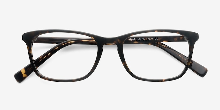 Wildfire Tortoise Acetate Eyeglass Frames from EyeBuyDirect, Closed View