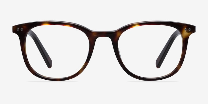 Demain Dark Tortoise Acetate Eyeglass Frames from EyeBuyDirect, Front View