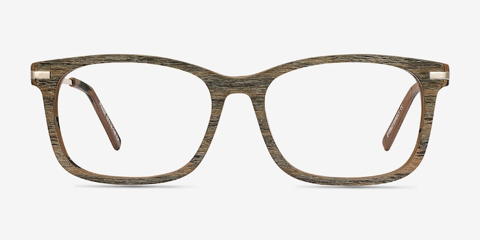 Phase Brown Acetate Eyeglass Frames from EyeBuyDirect, Front View