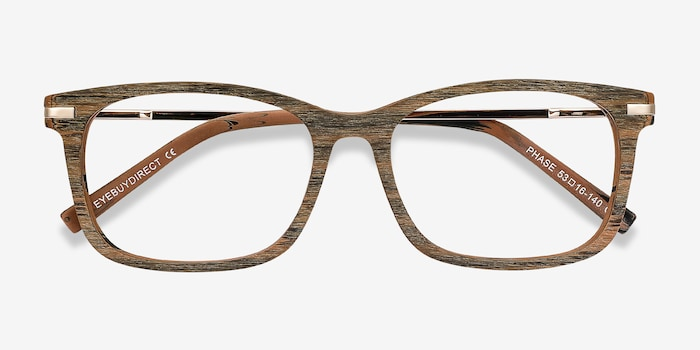 Phase Brown Acetate Eyeglass Frames from EyeBuyDirect, Closed View
