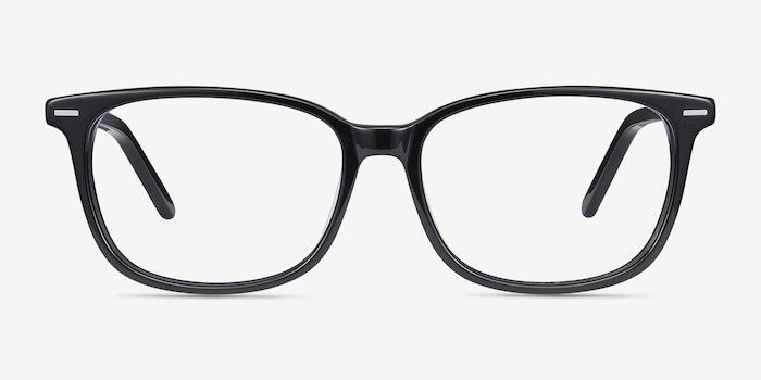 Seapoint Black Acetate Eyeglass Frames from EyeBuyDirect, Front View