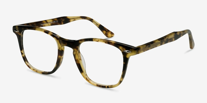 Together Tortoise Acetate Eyeglass Frames from EyeBuyDirect, Angle View