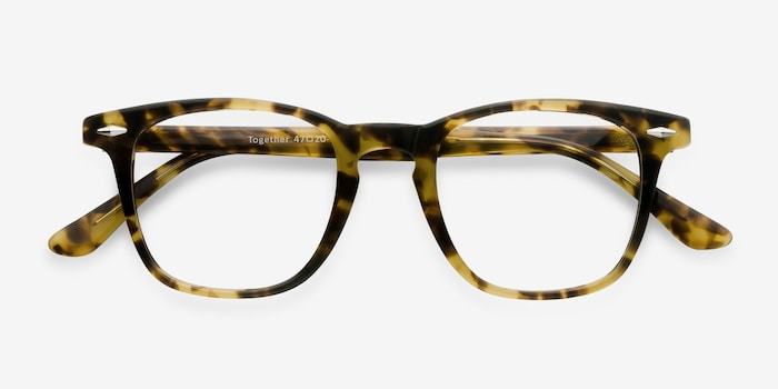 Together Tortoise Acetate Eyeglass Frames from EyeBuyDirect, Closed View