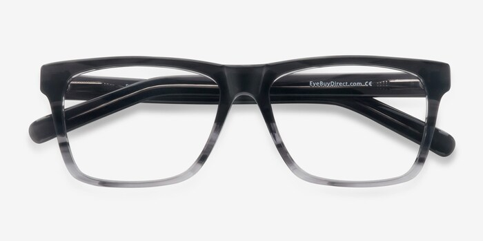Pioneer Gray Acetate Eyeglass Frames from EyeBuyDirect, Closed View