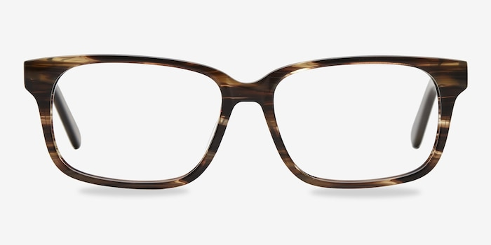 Brown Striped Edit -  Acetate Eyeglasses