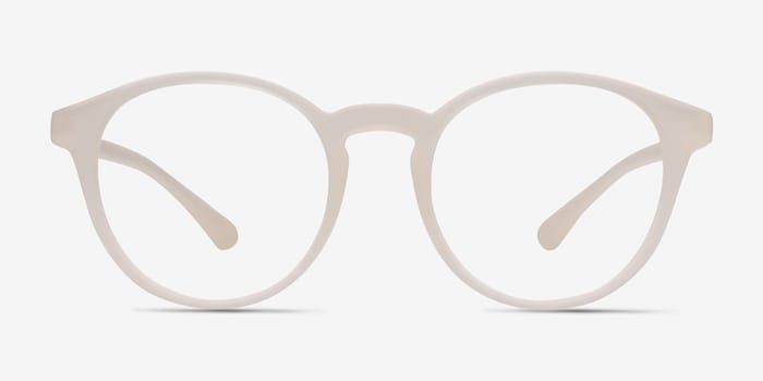 Clear White Bright Side -  Classic Plastic Eyeglasses