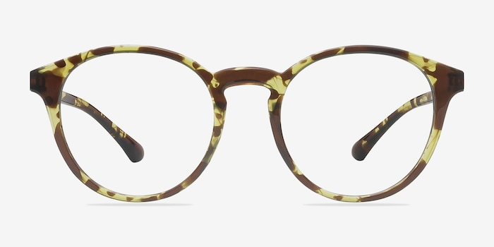 Bright Side Tortoise Plastic Eyeglass Frames from EyeBuyDirect, Front View