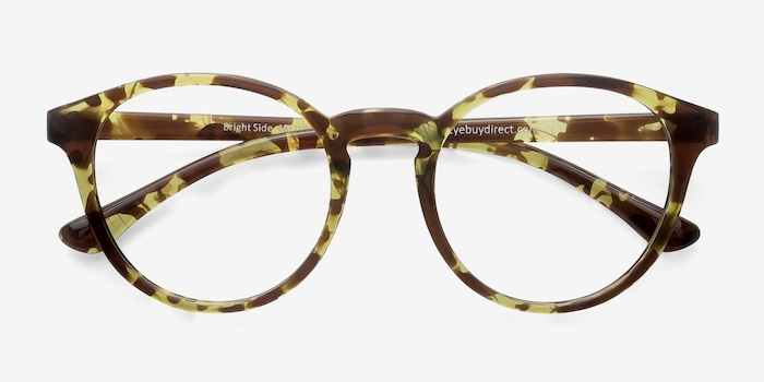 Bright Side Tortoise Plastic Eyeglass Frames from EyeBuyDirect, Closed View