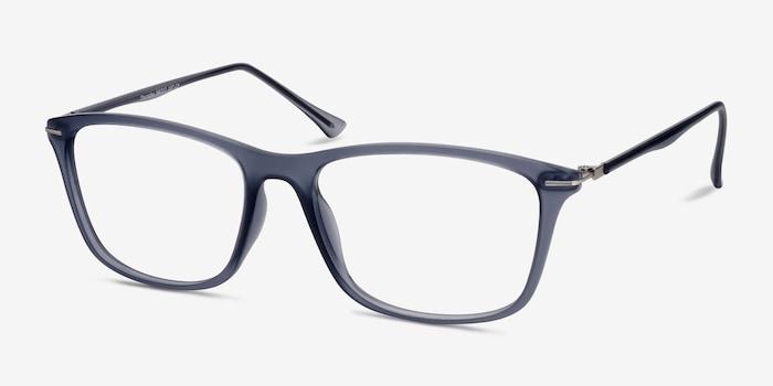 Thursday Gris Plastique Montures de Lunettes d'EyeBuyDirect, Vue d'Angle