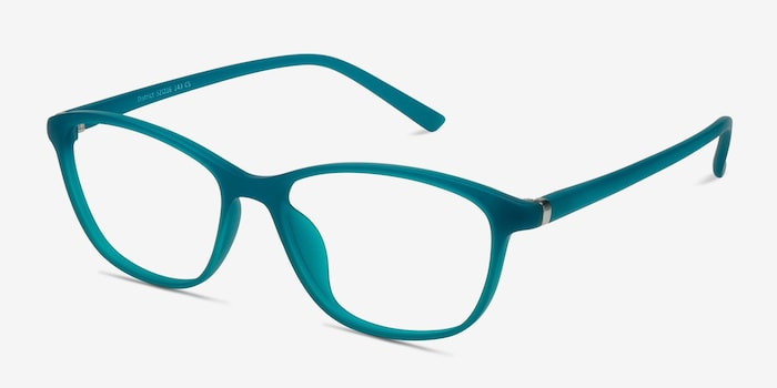 District Matte Green Plastic Eyeglass Frames from EyeBuyDirect, Angle View