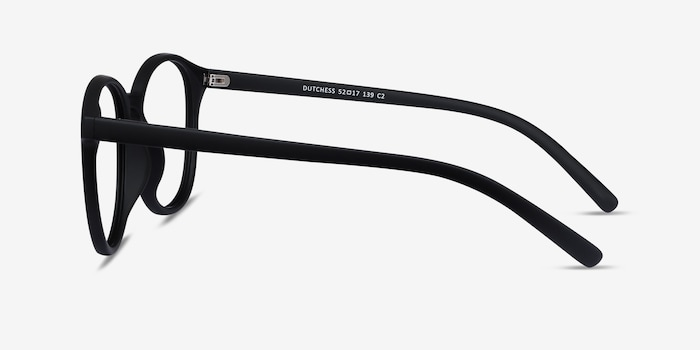 Dutchess Matte Black Plastic Eyeglass Frames from EyeBuyDirect, Side View