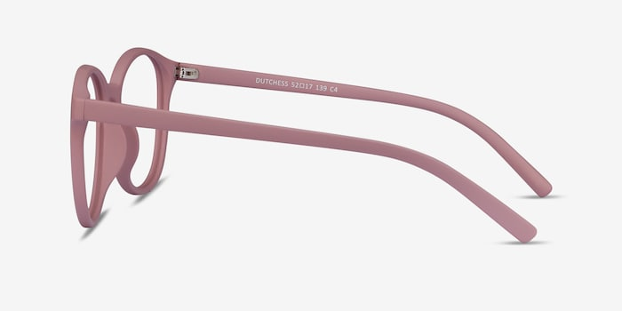 Dutchess Matte Pink Plastic Eyeglass Frames from EyeBuyDirect, Side View