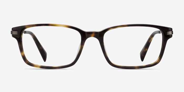 Dreamer Tortoise Acetate Eyeglass Frames from EyeBuyDirect, Front View