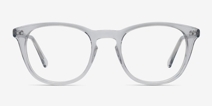 New Day Clear Acetate Eyeglass Frames from EyeBuyDirect, Front View