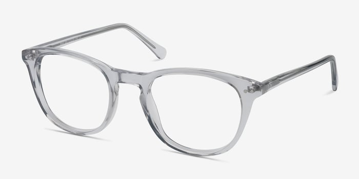 New Day Clear Acetate Eyeglass Frames from EyeBuyDirect, Angle View