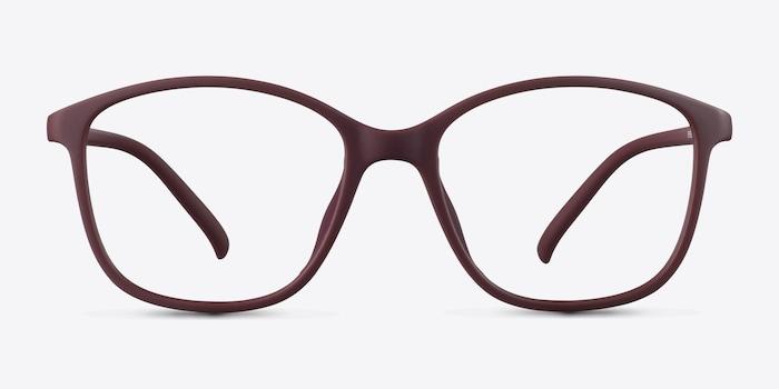Saint Lou Burgundy Plastic Eyeglass Frames from EyeBuyDirect, Front View
