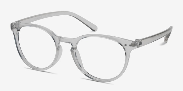 Little Morning Clear Plastic Eyeglass Frames from EyeBuyDirect, Angle View