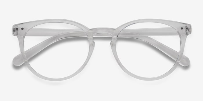 Little Morning Clear Plastic Eyeglass Frames from EyeBuyDirect, Closed View