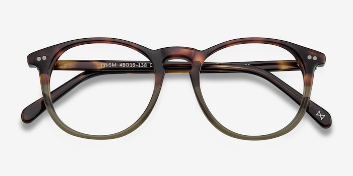 Prism Cafe Glace Acetate Eyeglass Frames from EyeBuyDirect, Closed View
