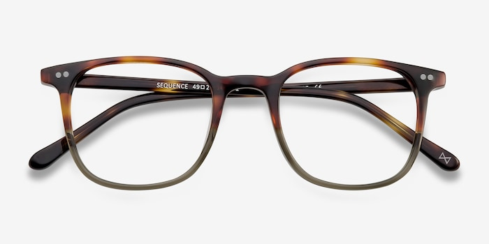 Sequence Charred Quartz Acetate Eyeglass Frames from EyeBuyDirect, Closed View