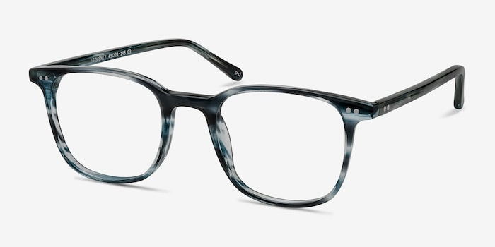 Sequence Ocean Tide Acetate Eyeglass Frames from EyeBuyDirect, Angle View