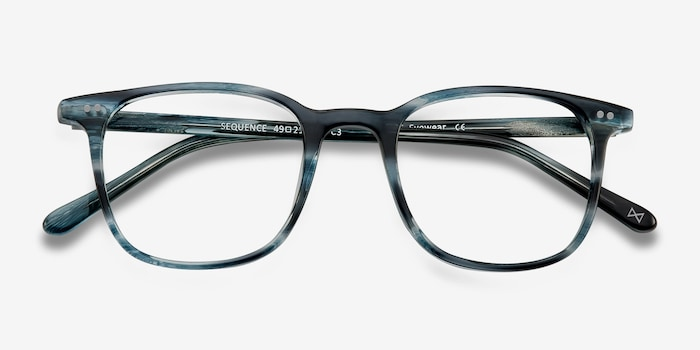 Sequence Ocean Tide Acetate Eyeglass Frames from EyeBuyDirect, Closed View