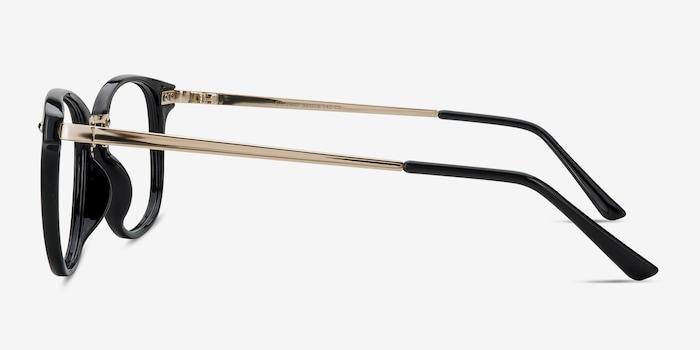 Cosmo Black Metal Eyeglass Frames from EyeBuyDirect, Side View