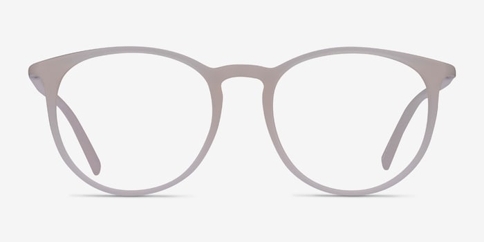 Dialogue Matte Clear Plastic Eyeglass Frames from EyeBuyDirect, Front View