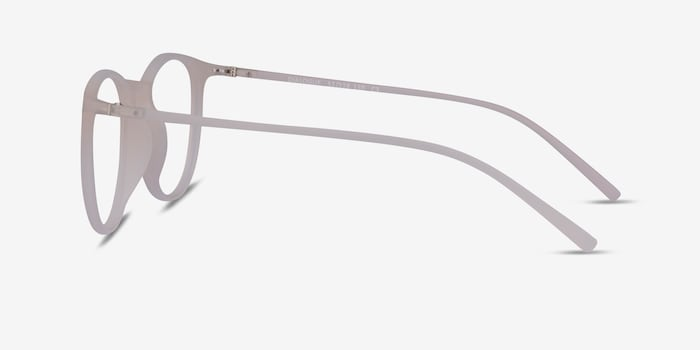 Dialogue Matte Clear Plastic Eyeglass Frames from EyeBuyDirect, Side View