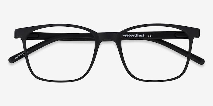 Soul Black Plastic Eyeglass Frames from EyeBuyDirect, Closed View