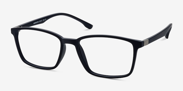Northern Matte Navy Plastic Eyeglass Frames from EyeBuyDirect, Angle View