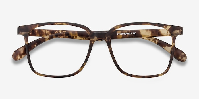 Magnus Matte Tortoise Plastic Eyeglass Frames from EyeBuyDirect, Closed View
