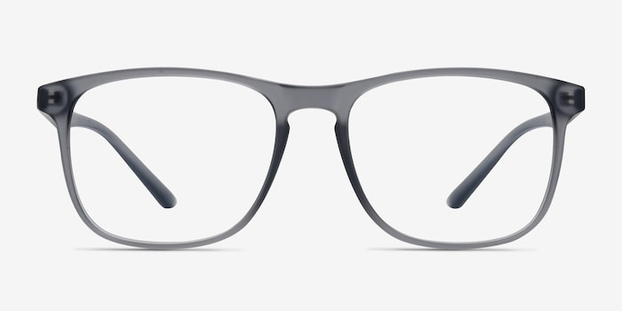 Ghent Matte Gray Plastic Eyeglass Frames from EyeBuyDirect, Front View