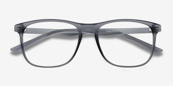Ghent Matte Gray Plastic Eyeglass Frames from EyeBuyDirect, Closed View