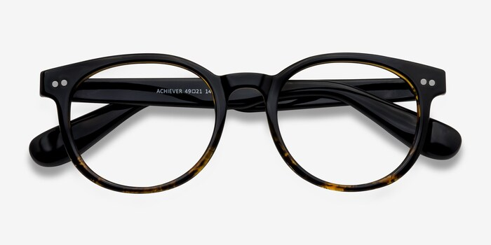 Achiever Brown Floral Plastic Eyeglass Frames from EyeBuyDirect, Closed View